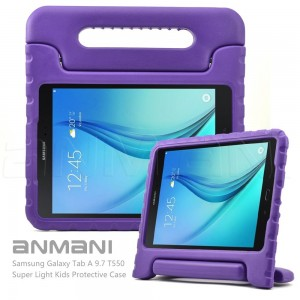 Samsung Galaxy Tab A 9.7 Kids Case-ANMANI Light Weight Kids Friendly Super Protective Shock Proof Convertible with Handle Stand Case for Samsung Galaxy Tab A 9.7-Inch T550 Tablet Blue