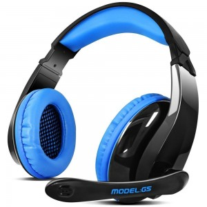 LETTON G5 Stereo Gaming Headset with Micophone for Multi Function Device (Blackblue)