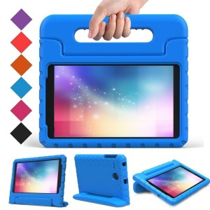 BMOUO Samsung Galaxy Tab E 8.0 inch Kids Case - EVA ShockProof Case Light Weight Kids Case Super Protection Cover Handle Stand Case for Kids Children for Samsung Galaxy TabE 8-inch Tablet - Blue