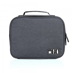 Hynes Eagle Portable Electronic Accessories Organizer Travel Carry Case (Gray)