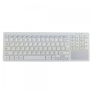 FENIFOX Wireless Keyboard with Multi-Touch Touchpad Whisper-Quiet Typing and Ultra Slim Compact for PC Tablet Windows 7,10,XP,Vista (White)