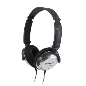 Panasonic Over-the-Ear Stereo Headphones RP-HT227 (Black and Silver) Integrated Volume Controller, Travel-Fold Design