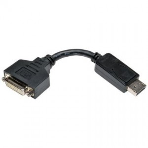 Tripp Lite DisplayPort to DVI Cable Adapter, DP to DVI (M/F), DP2DVI, 6 in. (P134-000)
