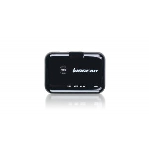 IOGEAR Universal Ethernet to Wi-Fi N Adapter for Home or Office GWU627 (Black)