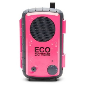 ECOXGEAR Eco Extreme 3.5mm Aux Waterproof Portable Speaker Case (Pink)