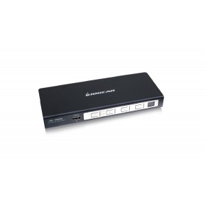 IOGEAR 4-Port HD Audio/Video Switch with RS-232 Support (GHSW8141)