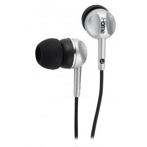 iHOME IB5S Colortunes Noise Isolating Earphones, Silver (Discontinued by Manufacturer)