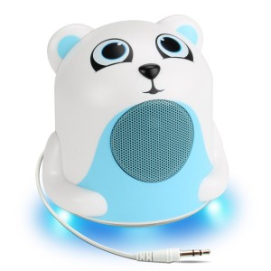 Accessory Power GOgroove Polar Bear Light-Up Speaker with Dynamic Audio Driver , Enhanced Bass Woofer and 3.5mm Ca