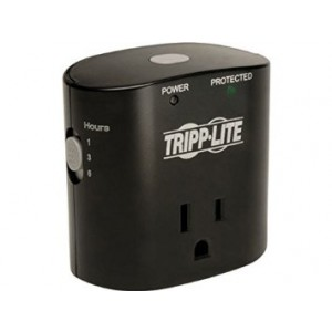 Tripp Lite 1 Outlet Portable Direct Plug-in Surge Protector/Suppressor with Timer (SK10TG)