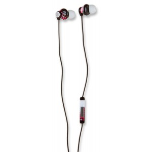 Manhattan Products Manhattan Signature Collection Splatter Ball In-Ear Full-Stereo Headphones - White/Pink/Black (178