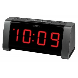 Timex T235B AM/FM Dual Alarm Clock Radio with Jumbo Display and Line-In Jack (Black)