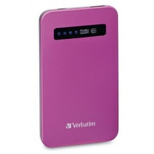 Verbatim 4200 mAh Ultra Slim Power Bank, Pink 98452