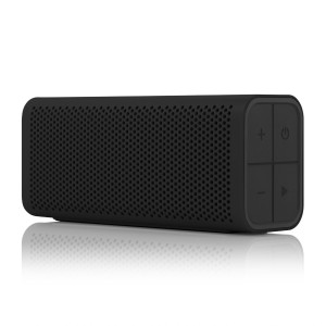 BRAVEN 705 Portable Wireless Bluetooth Speaker [12 Hr Playtime][Water Resistant] Built-In 1400 mAh Power Bank Charger - Black