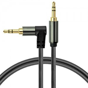 Mediabridge 3.5mm Male To Male Right Angle Stereo Audio Cable (12 Feet) - 90° Connector For Flush Connections - Step Down Design for Smartphone, Tablet and MP3 Cases - (Part# MPC-35RA-12 )