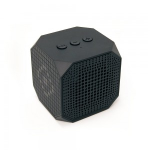 MQbix MQBK3010BLK MUSICUBE Wireless Portable Bluetooth Speaker with Built-In Mic for Bluetooth Enabled Devices (Black)