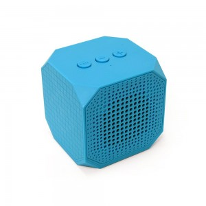 MQbix MQBK3010BLU MUSICUBE Wireless Portable Bluetooth Speaker with Built-In Mic and Rechargeable Battery for All Bluetooth Enabled Devices (Blue)
