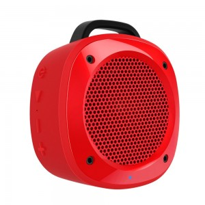 Divoom Airbeat-10 Water Resistant Bluetooth 3.0 Portable Speaker, with Suction Cup for Showers, Bike Mount speaker for Smartphone, iPhone, Galaxy, LG, iPad, Tablet PC (Red)