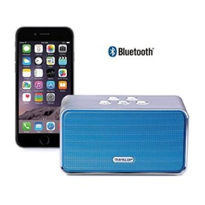 Travellor Classic Portable Wireless Bluetooth Speaker System ,Powerful Sound with build in Microphone (Silver Blue)