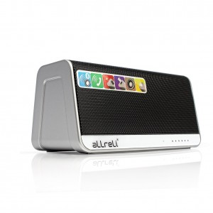 aLLreLi Ultra-Portable Bluetooth 4.0 Speaker w/ Touchpad, 2600mAh External Battery (13 Hour Playtime), Aux, Micro SD MP3 Player, Microphone and Led Light (Black)