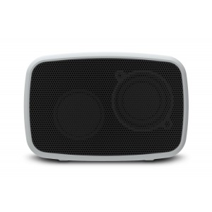 Ematic ESQ206SL RuggedLife Water Resistant Bluetooth Speaker with Speakerphone for iPhone, iPad, iPod, Android, Galaxy, Nexus, Fire, Smartphones and Laptops - Silver