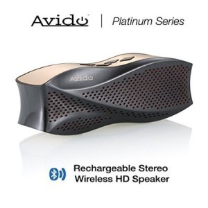 Avido™ [Platinum Series] Oceana Portable Wireless Bluetooth Speaker - HD Sound with Clean Bass, Auxiliary Connection, Voice Prompts, Micro SD Card Support, and Rechargeable Battery– Black/ Gold