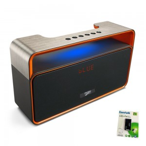 Tentek Portable Bluetooth Speaker, with 2x5W Acoustic Drivers, LED Display, Dual Subwoofer, FM Radio, Han