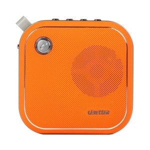 Outdoor Bluetooth Speakers, Ubetter Portable Mini Wireless Speaker, Powerful Sound with Enhanced Bass, Sport For Hiking, Biking, Camping (Orange)