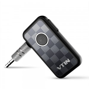 Vtin Portable Wireless Bluetooth Receiver Car Kit Audio Adapter 3.5 mm Stereo Output for Home Audio Music Streaming Sound System