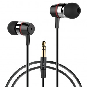 Earphone Headphone,Splaks Stereo Headphone Earbuds,Bass Driven,High Definition,in-ear,Noise Isolating for iPhone, iPod, iPad, MP3 Players, Samsung Galaxy, Nokia, HTC, Nexus, BlackBerry etc-Metal Black