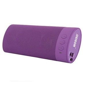 Mosiso Wireless Speaker,Portable Rechargeable Stereo Sound System with 20 Hour Battery Life and Full,Powerful High-Def Sound for iPhone/Android Phones,PC,iPod,MP3/MP4,Purple