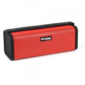 Reacher Portable Bluetooth Speaker with FM Radio, Power Bank, USB, Micro SD, 3.5 AUX (red)