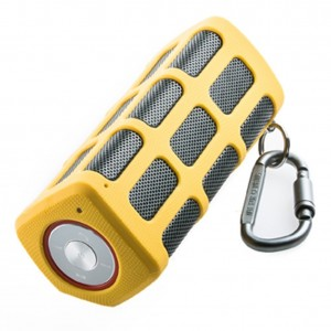 Hapyia Portable Wireless Bluetooth Speaker Outdoor with Power Bank (Yellow)