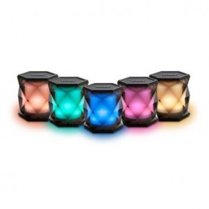 iHome iBT68 Color Changing Wirless Bluetooth Speaker with 8 Hour Rechargeable Battery and Speakerphone