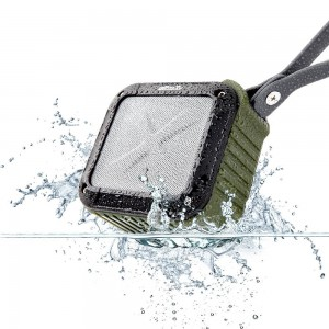 allimity Portable Bluetooth Speaker, Waterproof( IPX6), Shower, Outdoor, Kitchen With 12 Hours Play and 33FT Range-3.5mm Audio Cable, Compatible to All Bluetooth Devices(Army Green)