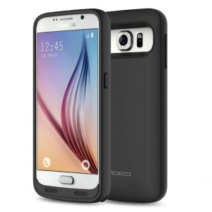 MoKo S6 Battery Charger Case - 3500mAh Protective Extended Charging Case with Removable / Rechargeable Power Cover for Samsung Galaxy S6 5.1 Inch, BLACK(NOT Fit Samsung Galaxy S6 Edge / Active)