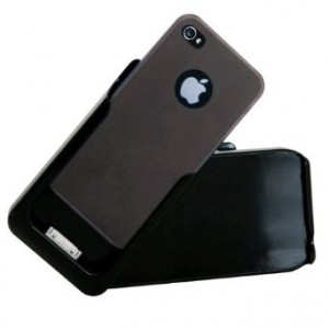 Concord Keystone Keystone ECO AmigoCase, Battery Holster and Protective Case for iPhone 4S/4, (Black)