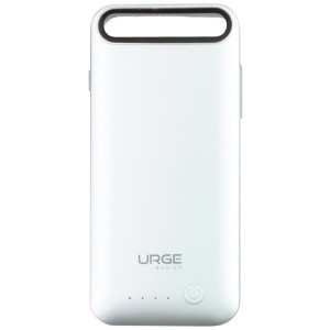 URGE Basics Battery Case for iPhone 6/6S - Retail Packaging - Silver-Clear