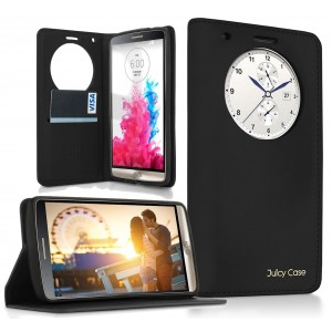 Juicy Case LG G3 Case, Quick Circle Case , ALL IN ONE!, Works With Magnetic Car Mount, Flip Cover, Magnetic W