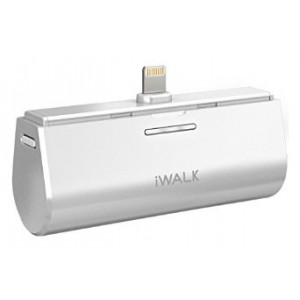 iWALK Link Me 3000mAH Rechargeable Docking Case Friendly Backup Battery for Apple iPhone 6 6 Plus 5s 5c 5 iPad and iPods and all devices with Lightning port - White