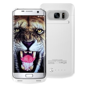 iAlegant Galaxy S6 Edge Battery Case, Portable Backup Power Bank Case 4200mAh Ultra Slim Rechargeable Extended Charging Case for Samsung Galaxy S6 Edge (white)