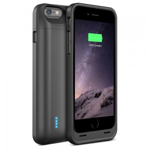iPhone 6 Battery Case - UNU DX-6 Protective iPhone 6 Battery Case ( 4.7 Inches) [Matte Black] - MFI Apple Certified 3100mAh External Protective iPhone 6 Charging Case Portable Battery Pack Cover