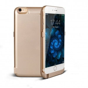 "iPhone 6/6S Battery Case (4.7""), SinoPro Portable Slim Extended Battery Case Mobile Protective Charging Case with 5800mAh Capacity Kick Stand LED Indicator for iPhone 6/6S (Champagne Gold)"
