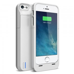 iPhone SE Battery case , iPhone 5S Battery case , UNU DX-5 iPhone SE/5S/5 Charger Case [White] - MFI Certified 2300mAh Charger Protective iPhone SE/5S Charging Case / Power Bank Battery Pack