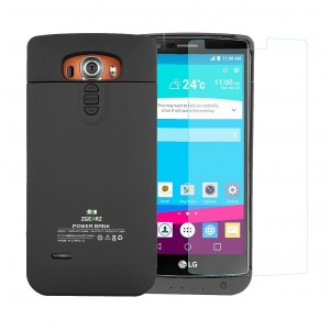 ZgearZ   LG G4 Battery Case with Back Buttons Access and 3800 mAh Battery Pack. Use it as backup battery fo