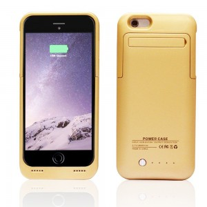 iPhone 6s/6 Plus Battery Case, Maxdara 4200mAh Capacity Charger Cases Juice Pack Portable External Battery Backup Power Bank with Kickstand for iPhone 6s/6 Plus 5.5 inch (Gold)