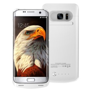 S7 Edge Battery Case,BEAOK Premium 5200mAh Slim Portable Charger Case for Samsung Galaxy S7 Edge External Battery Rechargeable Back up Power Case(White)