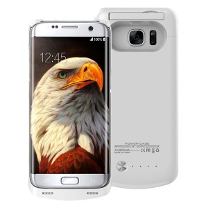 S7 Portable Charger Case,BEAOK 4200mAh Extended Battery Pack Rechargeable Protective Cover Case For Samsung Galaxy S7 (White)
