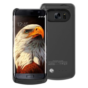 S7 Battery Case,BEAOK 4200mAh Portable Charger Battery Pack External Battery Rechargeable Power Case For Samsung Galaxy S7 (Black)