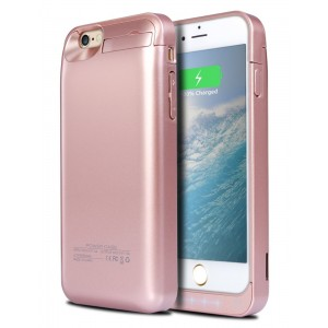 iPhone 6S Plus Battery Case, Ecpow 8200mAh Rechargeable External Battery Case iPhone 6 Plus Power Bank Case Battery Pack Portable Charger Charging Case for iPhone 6 Plus/ 6S Plus 5.5'' -Rose Gold