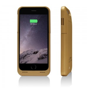"BSWHW Rechargeable Backup Power Cover 3500mah For 4.7"" iPhone 6 with Built-in Kickstand,External Power Bank Case Backup Battery Charge Cover Portable Charging Case Cover protection case (Gold)"